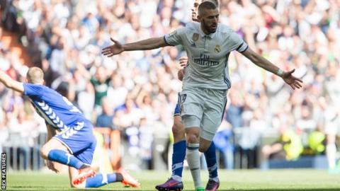 Karim Benzema has scored nine La Liga goals this season