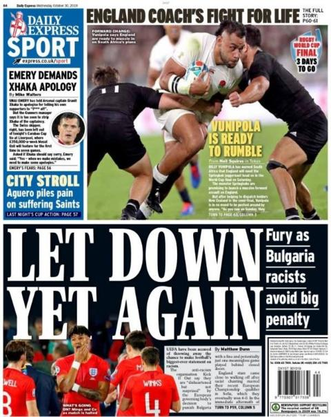 Back page of the Express