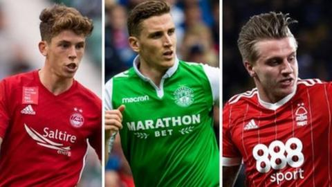 Aberdeen's on-loan Celtic player Ryan Christie, Hibs' Paul Hanlon and Nottingham Forest's Jason Cummings have made the national squad
