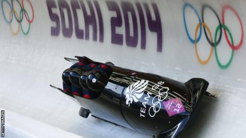 Great Britain's four-man bobsleigh team finished fifth at the 2014 Winter Olympics in Sochi