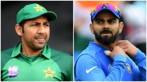 Sarfaraz Ahmed and Virat Kohli