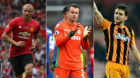 Wes Brown, Shay Given, Alex Bruce