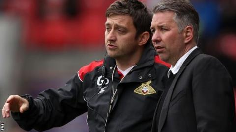 Gavin Strachan was Darren Ferguson's assistant manager at Doncaster and Peterborough