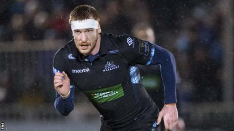 Rob Harley in action for Glasgow against Cheetahs earlier this month