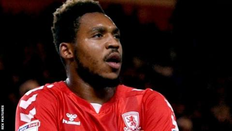 Brit Assombalonga celebrating for Middlesbrough