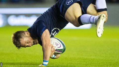 George Horne scores for Scotland