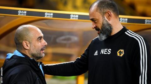 Pep Guardiola and Nuno Espirito Santo