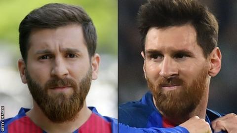 Reza Parastesh and Lionel Messi