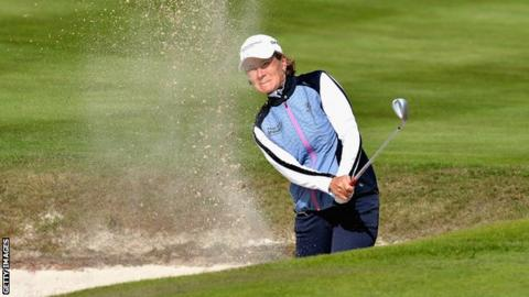 Catriona Matthew on day two of the European Championships at Gleneagles