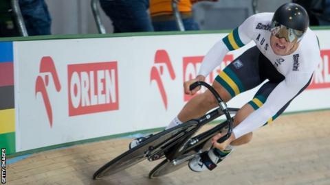 Australian cyclist Matthew Glaetzer