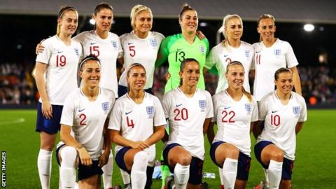 England team line-up before facing Australia