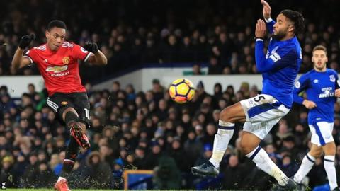 Man Utd go second with victory at Everton