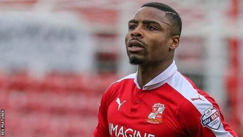Swindon Town striker Jon Obika