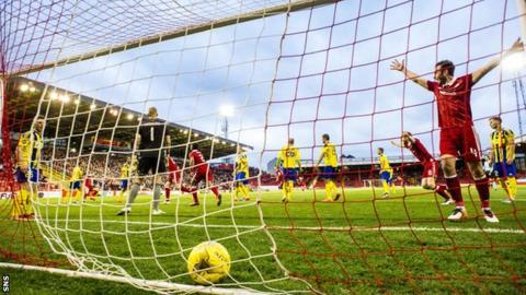 Wes Burns' goal hits the net