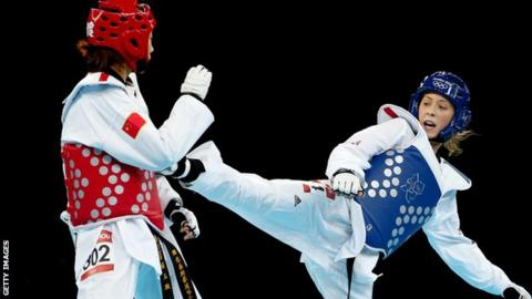 Jade Jones in action at London 2012