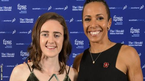 Laura Muir and Dame Kelly Holmes