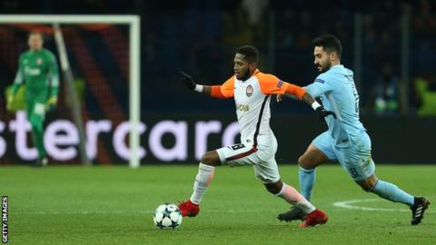 Fred in action for Shakhtar Donetsk