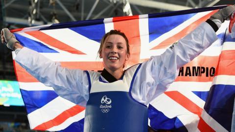 Olympic taekwondo medallist Jade Jones