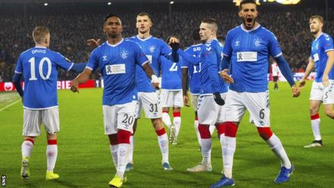 Rangers earned a 2-2 draw to go top of their Europa League group