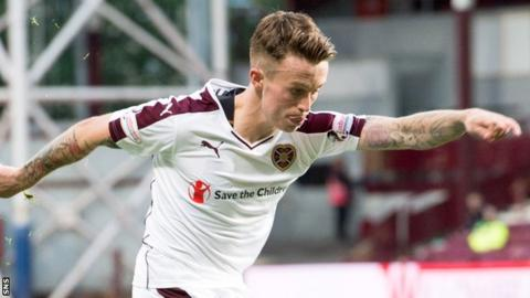 Gary Oliver in action for Hearts