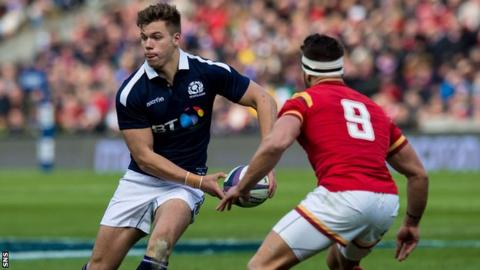 Huw Jones has started all three of Scotland's Six Nations matches so far this campaign