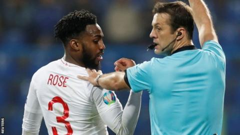 Danny Rose was subjected to racist abuse while playing for England against Montenegro last month