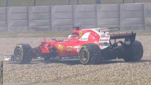 Sebastian Vettel during practice for the United States Grand Prix