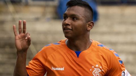Rangers striker Alfredo Morelos