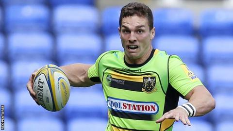 Wing George North joined Northampton from Scarlets in 2013