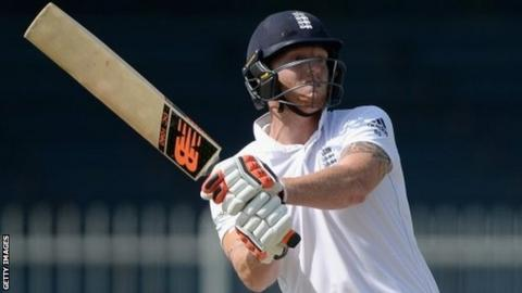 Ben Stokes was able to play more shots with the bat on the final day in Sharjah