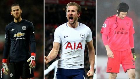De Gea, Kane, Cech