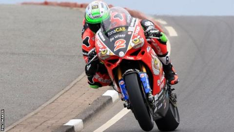 Irwin's average lap time was 113.452mph in the truncated Superbike practice session on Tuesday