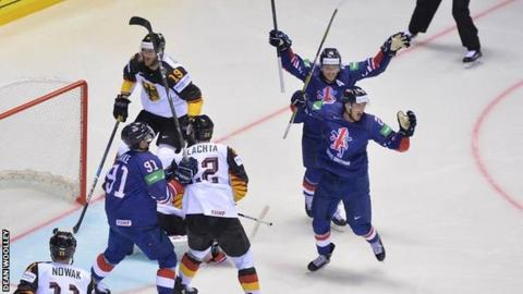 Ice Hockey World Championship Great Britain Beaten 3 1 By Germany