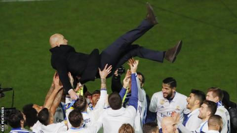 Zinedine Zidane guided Real Madrid to the 2016 Fifa Club World Cup