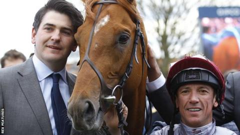 Hugo Palmer with Galilieo Gold and Frankie Dettori