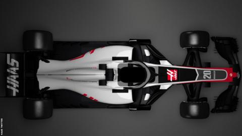 Haas launched digital images of the VF-18