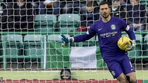 Hibernian goalkeeper Ofir Marciano