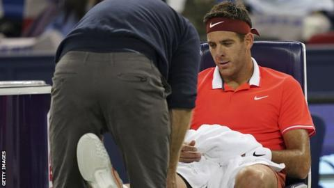 Juan Martin del Potro injured his knee at the Shanghai Masters in October