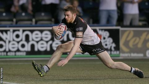 Ryan Ince in action for Widnes Vikings