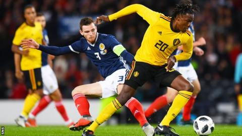 Andy Robertson and Dedryck Boyata