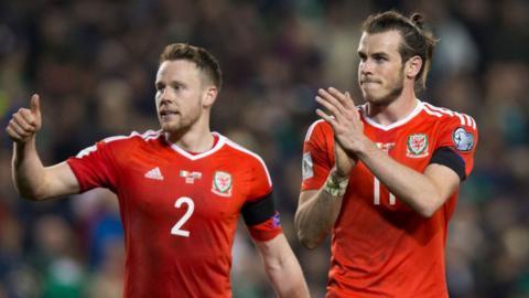 Chris Gunter and Gareth Bale