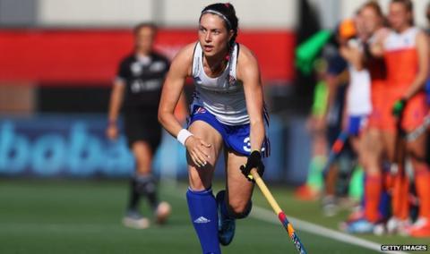 Scottish hockey player Amy Costello