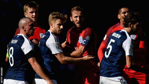 Scotland and England players