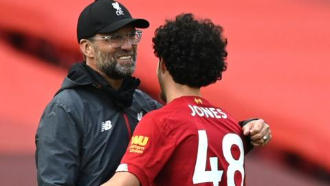 Jurgen Klopp and Curtis Jones