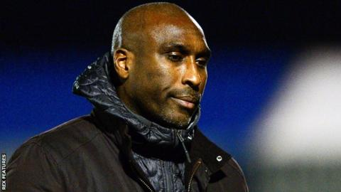 Southend manager Sol Campbell