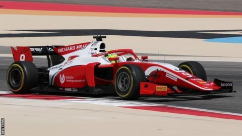 Mick Schumacher tests with Ferrari in Bahrain