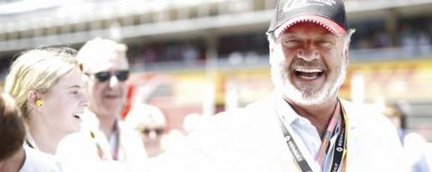 Frasier star Kelsey Grammer at the Spanish Grand Prix
