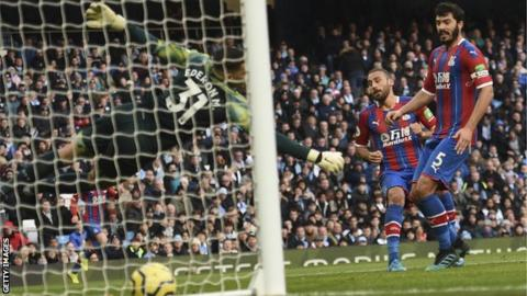 Cenk Tosun scores for Crystal Palace