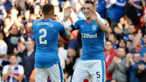 Rangers claim EL lead over Shkupi