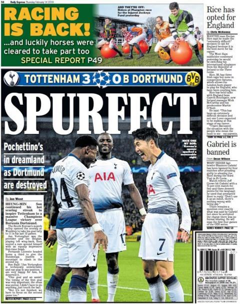 Express back page on Thursday